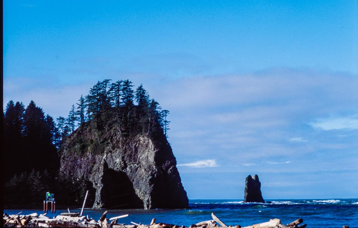 Ruby Beach shot on Kodak Ektachrome 100
